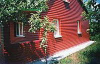 Деревянно-каркасный дом. Зимний вариант. Красный блок-хауз