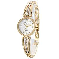 CYD Chaoyada 8016 кварцевые женские часы с цепью Золотой