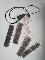 Нагревательные элементы для штанов, cтелек, жилета, куртки 5V/2А 50С Комплект 4шт + пульт с таймером