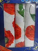 Набор полотенец для кухни Руно Маки 35*70 см 3шт арт.707Т