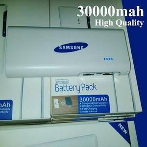 Внешний аккумулятор Sumsung 30000 mAh глянцевый с фонариком