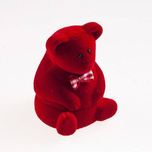 """Футляр для кольца  """"Медведь"""" красный"""