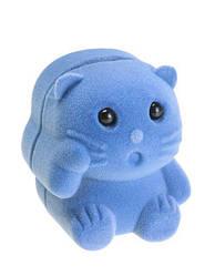 Футляр для кольца Кошечка голубая