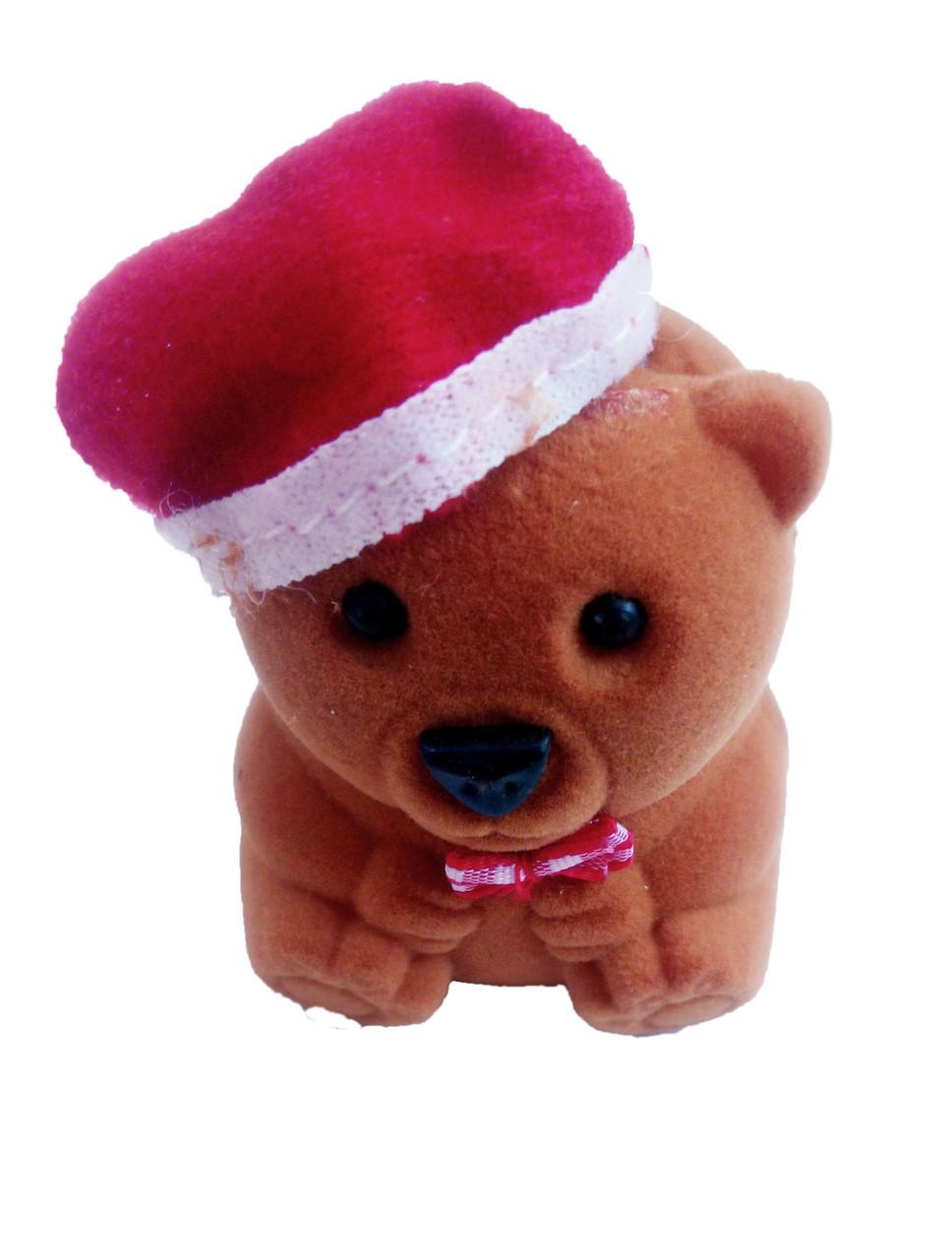Футляр для кольца  Мишка Новогодний коричневый