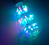 Светодиодная лампа Эдисона RGB 3Вт Е27 ST64x146, фото 1