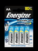 Батарейки Energizer Maximum alkaline AA LR6 1.5V 4шт Blister