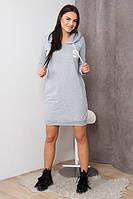 Платье 96 серое 62175