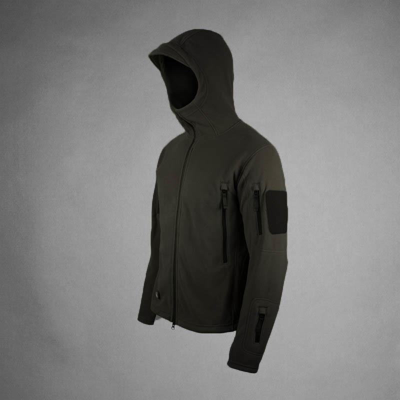 Мужская тактическая куртка черного цвета