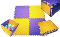 Коврик - Пазл для детской игровой комнаты. Теплый, мягкий пол.