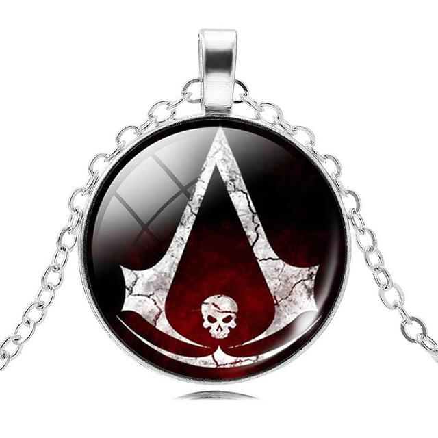 Кулон из Assassins Creed на цепочке с рисунком!
