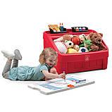 """2 в 1: комод для игрушек и поверхность для творчества """"BOX & ART"""" красный, фото 3"""