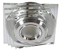 Светильник галогеновый CANDELLUX SS-32 AL/TR (3 W) LED COB стекло прозрачное