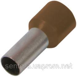 Изолированный наконечник втулочный e.terminal.stand.e10-12.brown 10,0 кв.мм, коричневый
