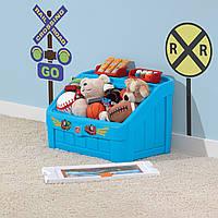 """2 в 1: комод для игрушек и поверхность для творчества """"BOX & ART"""" синий, фото 1"""