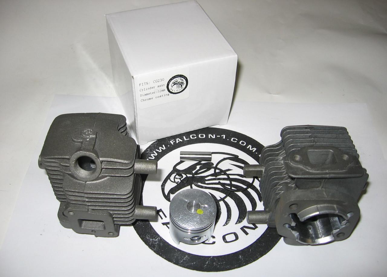 Цилиндр с поршнем ZENOAH kazei KS360 KS375 (SL750 / 750B / C / D, SL7510)для мопедов, самокатов d=32 мм
