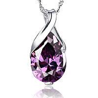 """Красивый женский кулон из металла """"Фиолетовый кристалл""""!, фото 1"""