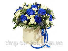 """Цветочная композиция """"Синяя роза"""""""