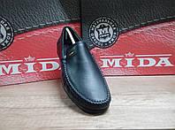 Мужские мокасины из натуральной кожи МИДА 11781 черные, фото 1