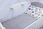 Комплект постельного белья Asik Совы цветные с серыми звёздами 8 предметов (8-258), фото 6