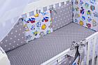 Комплект постельного белья Asik Совы цветные с серыми звёздами 8 предметов (8-258), фото 4