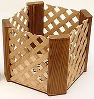 Кашпо из дерева в подарочной коробке WoodMood