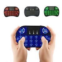 Беспроводная мини клавиатура с подсветкой Rii mini i8 + аккумулятор (3х цветная подсветка), фото 1