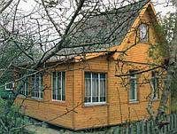 Дачный домик 6х8 с верандой
