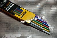 Клеевые стержни цветные 7/8 мм 200 мм Sigma 12 шт