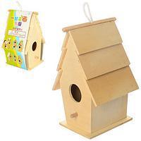 Деревянная игрушка Скворечник Своими Руками Раскрась Сам, MD 1037, 004182