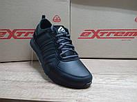 Чёрные мужские кроссовки из натуральной кожи ТМ EXTREM., фото 1