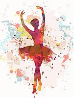 Рисование по номерам Балерина (KHO2672) Идейка 30 х 40 см (без коробки)