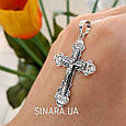 Крест серебряный с распятием  - Серебряный крестик , фото 6