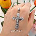 Крест серебряный с распятием  - Серебряный крестик , фото 5