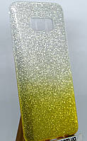 Силиконовая накладка Gliter Ambre Samsung A730 (A8 Plus 2018) (Yellow)