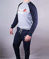 "Спортивный Костюм ""Reebok CrossFit 1212"" Светло-Серый Темно-Синий"