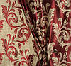 Двусторонняя бордовая портьерная ткань, блэкаут