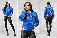 Женский бомбер-куртка с пчелой электрик, фото 1