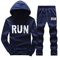 Мужской спортивный костюм RUN для бега синий