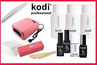 """Стартовый набор гель лаков Kodi """"Luxury"""" c уф лампою на 36ват"""