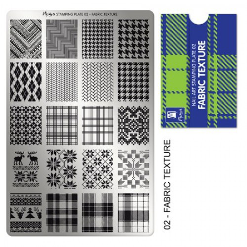Пластина для стемпинга №02 FABRIC TEXTURE / Текстура ткани