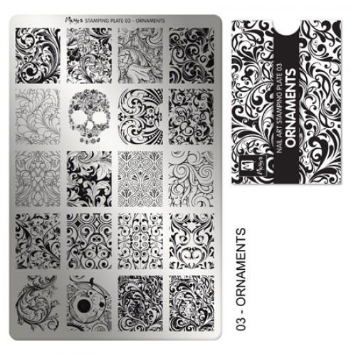 Пластина для стемпинга №03 ORNAMENTS / Орнаменты