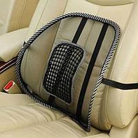 Поясничный упор для кресла Car Seat Back Support Ортопедическая спинка-подушка с массажером
