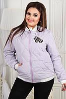 Женский бомбер-куртка с пчелой сирень, фото 1
