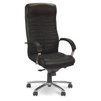 Кресла офисные для руководителей нс LE-D бежевый Orion Steel Chrome н.кожа Lux 68x54x118-125см, хром