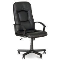 Кресла офисные для руководителей нс ECO-30 черный Omega кожа Eco 68x52x111-120см, пласт-подлок