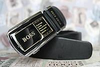 Ремень брендовый Boss мужской из натуральной кожи