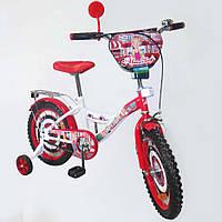 "Велосипед двухколесный TILLY Автоледі 16""  white + crimson"