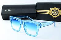 Солнцезащитные очки квадратные Dita голубые