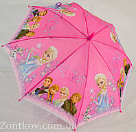 """Детский зонтик трость """"Frozen"""" на 3-6 лет от фирмы """"LoveRain""""."""