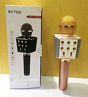 Караоке микрофон WSTER WS-1688 розовый, фото 1